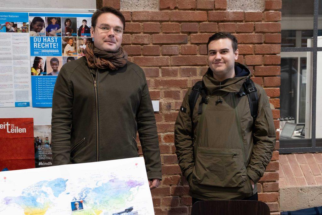 Christoph Endtea und Adrian Steube von der Initiative Hochschulgruppe Herkules.